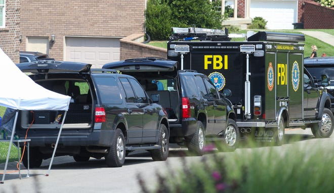 The FBI searched around homes in the Woodlawn Springs subdivision in Bardstown on Tuesday, August 24, 2021, in connection with the 2015 disappearance of Crystal Rogers.