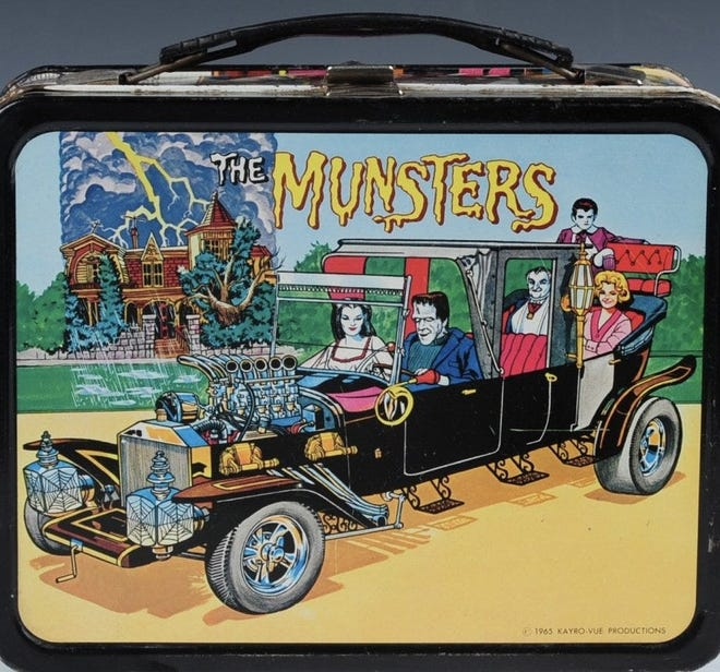 Barbara Czelatdko lovingly persuaded her dad to purchase this Munsters lunchbox at a hardware store.