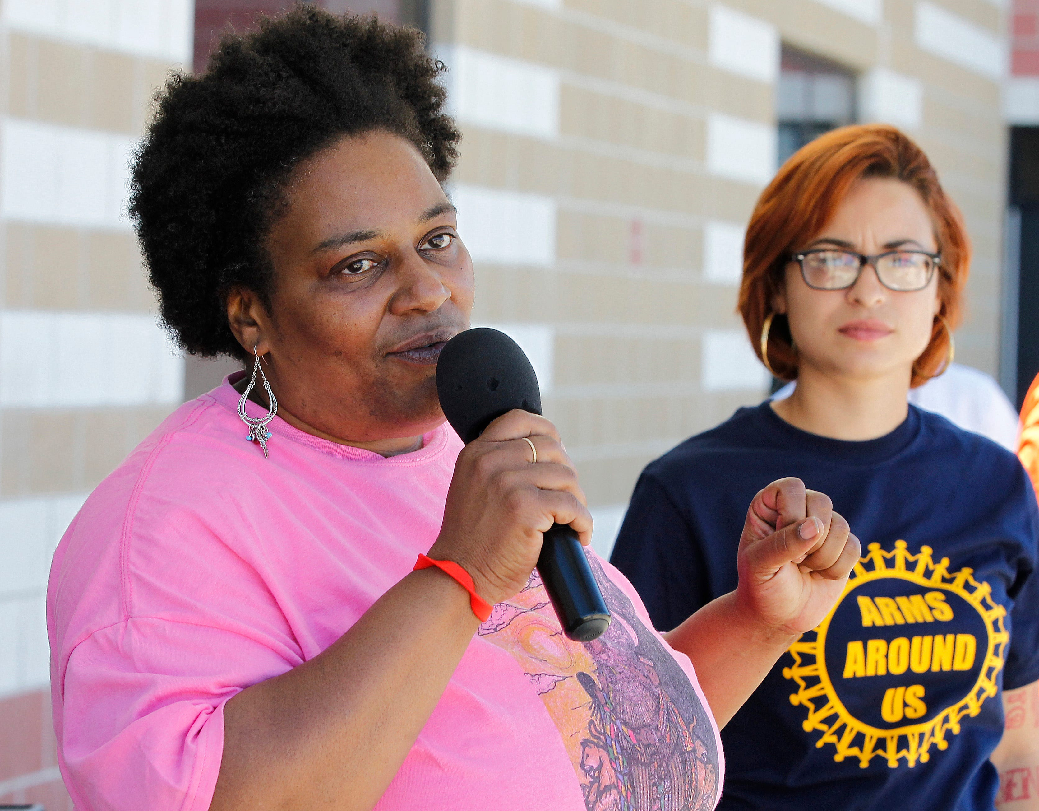 'People are dying, and they are not telling us who is responsible for that loss of life,' says Danell Cross, Metcalfe Park Community Bridges director, shown at a community event in 2014.