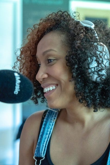 """Rissi Palmer records an episode of """"Color Me Country Radio,"""" a biweekly Apple Music show highlighting Black, Latinx and Indigenous artists."""
