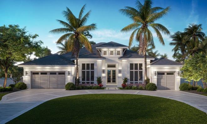 Newest luxury model in The Moorings waterfront community.