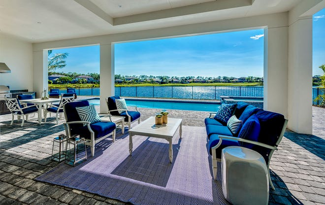 The homes at Peninsula Treviso Bay were designed to enjoy the outdoor lifestyle and the phenomenal lake and golf course views.