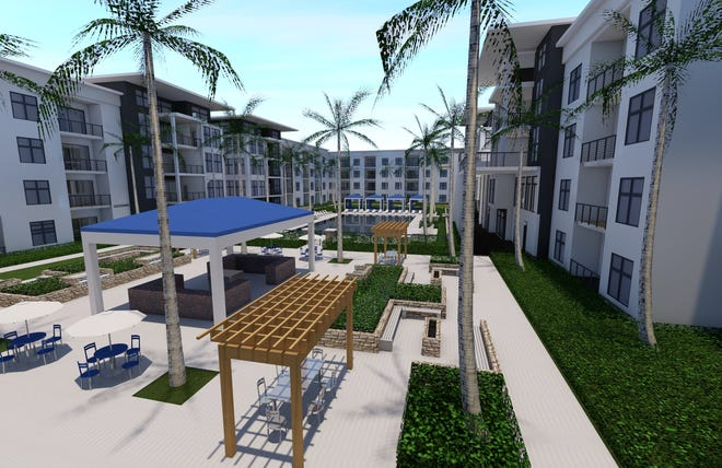 An artist's conception of the new Hammock Park Apartments in South Naples being developed by FL Star.