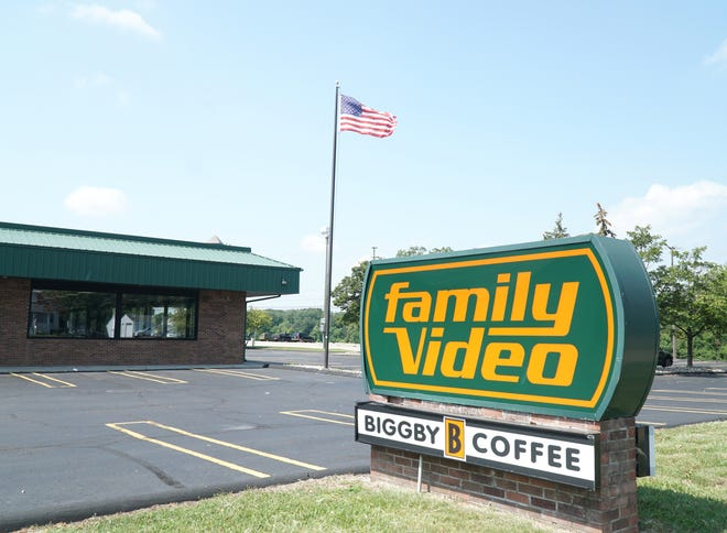The now-empty Family Video shop at Newburgh and Ann Arbor Trail.
