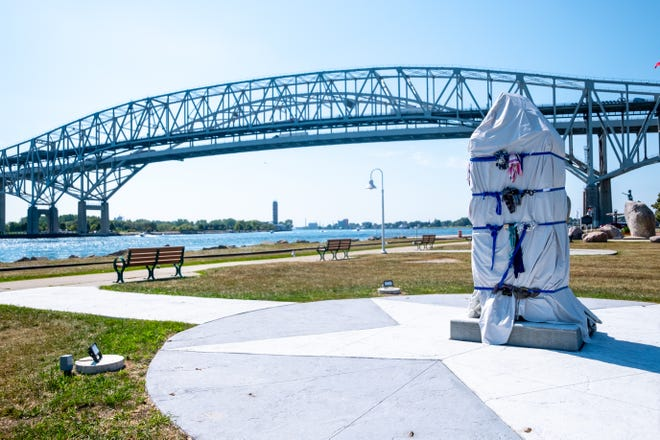 An unveiling ceremony for the Tuskegee Airmen Memorial near the Blue Water Bridge is planned for this weekend.