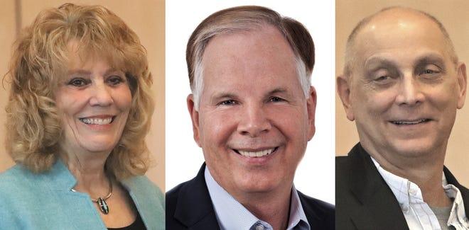 Shasta County supervisors facing a recall are Mary Rickert, left to right, Leonard Moty and Joe Chimenti