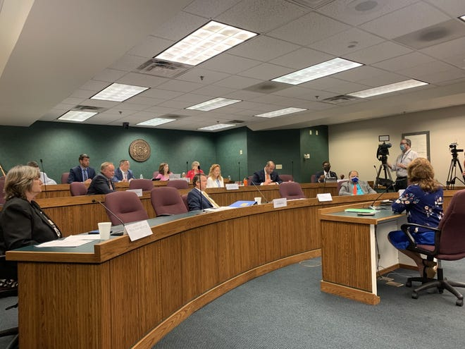 Rep. Ann Kelley, a Lamar Republican, testifies to the House Committee on Elections and Elected Officials on Aug. 24, 2021. Kelley shared her experiences attending a South Dakota election security conference laden with conspiracy and misinformation.