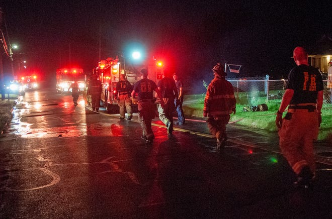 Wichita Falls firefighters worked to control a house fire on Covington Lane Monday night.