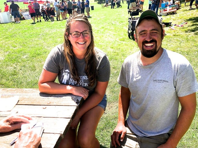 Bryanna and Dylan Handle after six years of growth on their B Kurt Dairy farm.