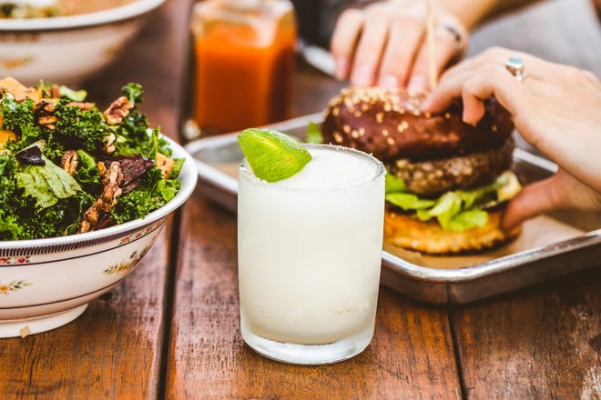 Seasonal salads, a juicy burger and some great cocktails are on the menu at Sour Duck Market, which also offers a large outdoor seating area.
