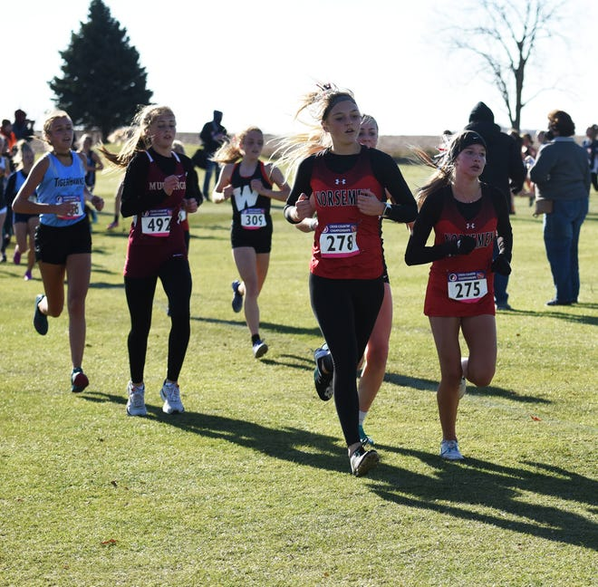 Reece Johnson (278) and Makenna Carlson (275) are back to lead the Roland-Story girls' cross country team in 2021. The Norse will be aiming for a return trip to state, where they finished 14th in Class 2A a year ago.