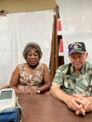 Rosalind and Bernie Grossman of Lexington, S.C. with the Doctormate device Bernie used as part of a clinical trial at Medical College of Georgia at Augusta University to see if it could help his mild vascular dementia. August 25, 2021