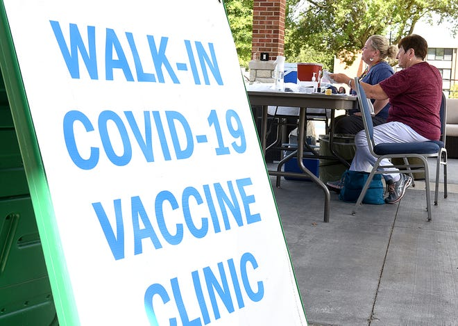 Columbia/Boone County Public Health and Human Services registered nurses vaccinated nine people against the COVID-19 virus during move-in day Aug. 25 at Columbia College.