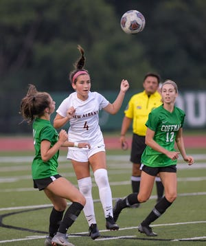 Sophomore midfielder Allie Metcalf is the top returnee for New Albany, which lost five key players to graduation after coming within a shootout loss of the program's first district title.