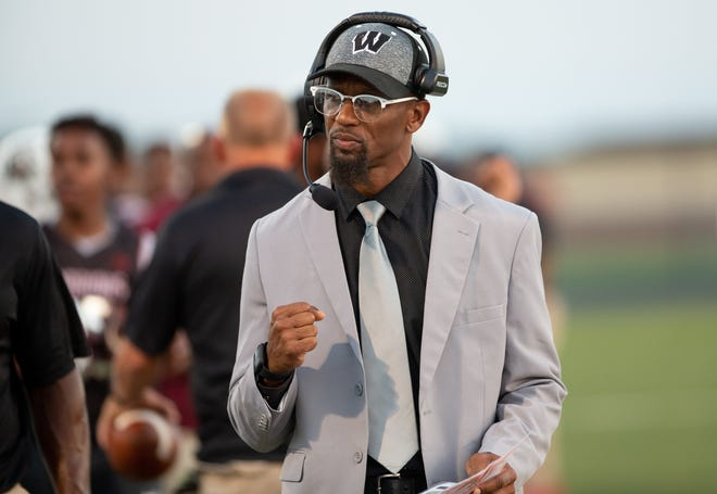Coach Milan Smith and Harvest Prep are preparing for a Week 2 contest at Hartley on Aug. 27.