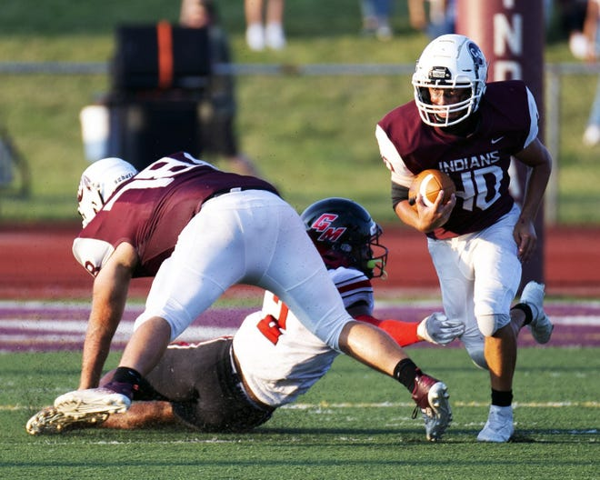 Ethan McGlone and Canal Winchester visit Central Crossing on Aug. 27.