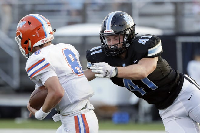 Ben Marsh and the Hilliard Darby defense dominated Olentangy Orange in a 17-0 victory on Aug. 20. The Panthers play host to Hilliard Bradley on Aug. 27.