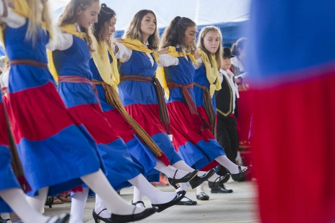 Greek dancers perform at the 2018 Greek Festival, which was canceled last year because of the COVID-19 coronavirus pandemic. It is scheduled Sept. 3-6 at the Annunciation Orthodox Greek Cathedral, 555 N. High St. in Columbus