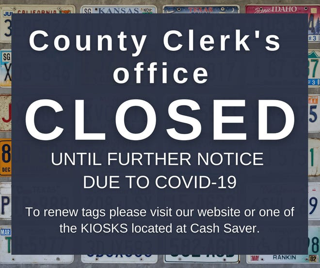 The Lawrence County Government has closed the county clerk's office because a large number of its staff has contracted COVID-19.