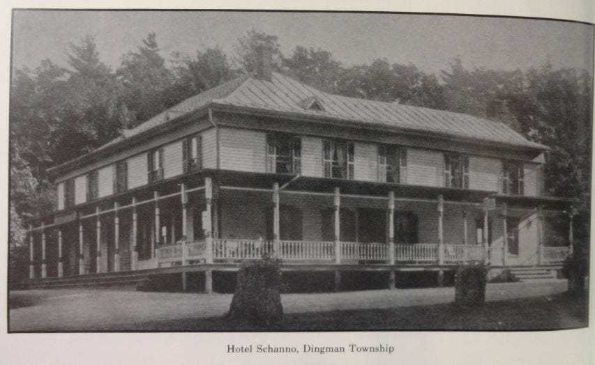 Hotel Schanno (History of Pike County, Pa. by Norman Lehde) /Courtesy Hawley Public Library