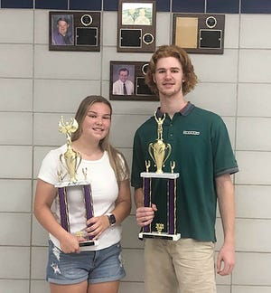 Abbey Sallila and Tom McNamara were recently honored as Monty Tech's Most Outstanding athletes for the 2020-21 school year