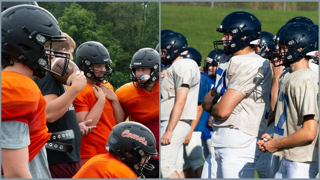 Jonesville (left) will play host to Hillsdale (right) in an opening season game.