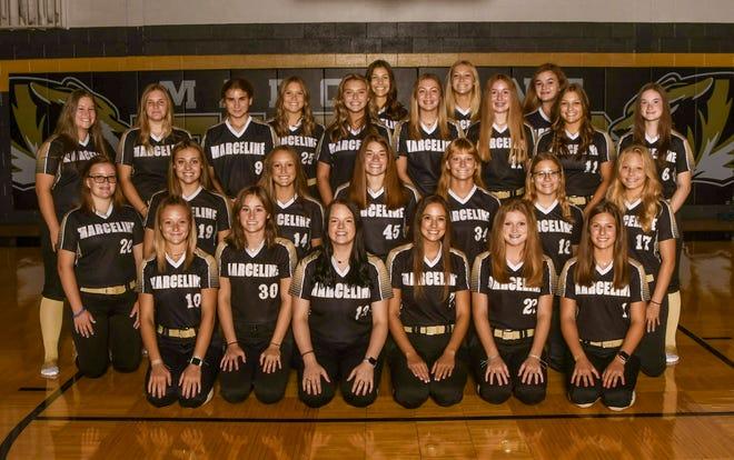 The 2021 Marceline High School softball Lady Tigers