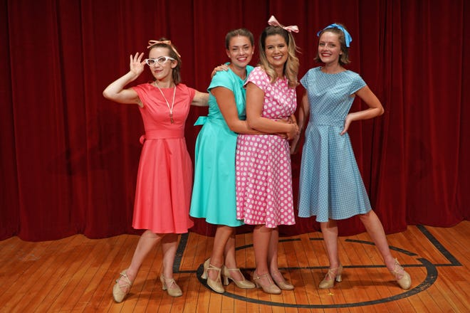"""Starring in """"The Marvelous Wonderettes,"""" from left, are Jessie Del Rio as Missy, Angela LaRose as BJ, Kelsey Bock as Cindy and Emily Missbach as Suzie in Priscilla Beach Theatre's production Sept. 3-11."""