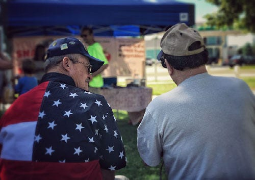 Any veteran who has served or is serving this country may attend any one of the seven participating Farmers Markets and receive $20 each week in September for fresh locally sourced food.