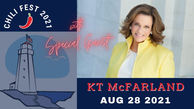 """The Honorable """"KT"""" (Kathleen Troia) McFarland will be the keynote speaker at the 21st Annual Chili Fest, hosted by the New Hampshire Seacoast Republican Women on Saturday, Aug. 28."""