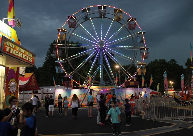 Ferris wheel at the 2016 Chesterfield County Fair in Chesterfield, Va.