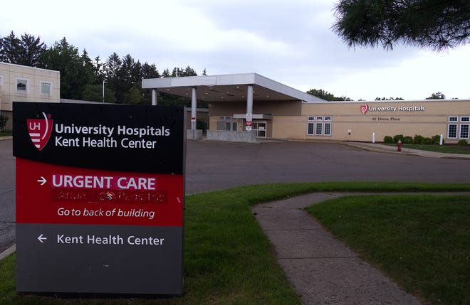University Hospitals' emergency department at 411 Devon Place off Route 43 just south of Route 261 in Kent remains closed due to the ongoing COVID-19 pandemic.