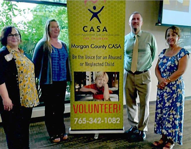 CASA assistant Myra Brown, CASA Coordinator Candice Carter, Judge Matthew Hanson and CASA assistant Kelly Bray serve Morgan County.