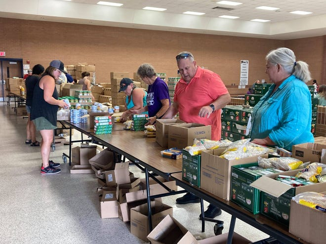 Cross Timbers Family Services partners with the Tarrant Area Food Bank at the yearly Backpack Buddies community event. Thank you to all of the volunteers who came to support our local students and teachers as they start this school year. Backpack Buddies is a non-profit organization that provides weekend food for schoolchildren from food-insecure homes. For more information on Backpack Buddies of Erath County, visit www.facebook.com/BackpackBuddiesErath
