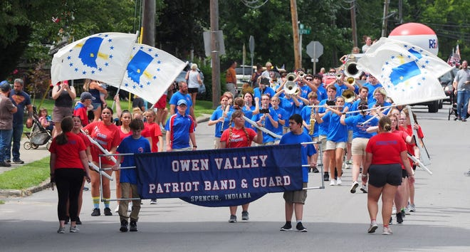 The Owen Valley Patriot Band & Guard perform at the 2021 Gosport Lazy Days festival. More photos from the event are featured in today's SEW.