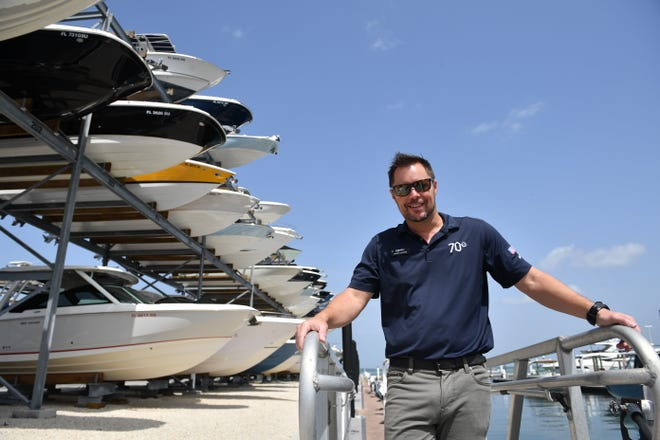 Jason LeFevre is the general manager at MarineMax in Sarasota. While the boating industry facing an inventory shortage, LeFevre says there is a waiting list for spaces in his boat storage racks.