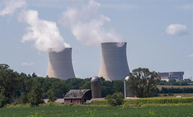 Exelon's Byron Generating Station is pictured in Ogle County. The company has said it would close Byron and another plant by the end of the year without further state aid.