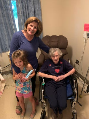 Ella Eichelberg celebrated her 106th birthday on Aug. 6 with her niece JoAnn Ferrie, of Bismarck, and her great-great niece Nora Honl of Langford, who celebrated her sixth birthday.