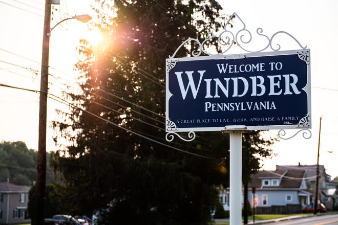 This photo from the Windber Works Facebook page shows one of Windber's welcome signs.