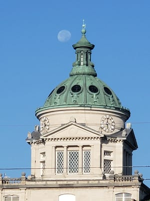 Frankie Ryan took this photo of the morning moon over the Somerset County Courthouse on Wednesday.