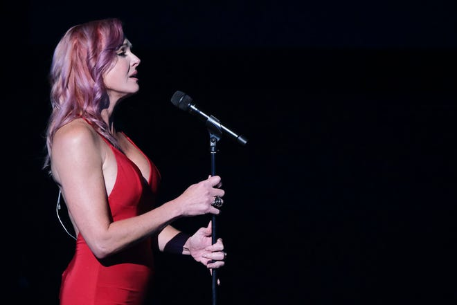 """Storm Large performing in the third quarterfinals of """"America's Got Talent"""" Aug. 24."""
