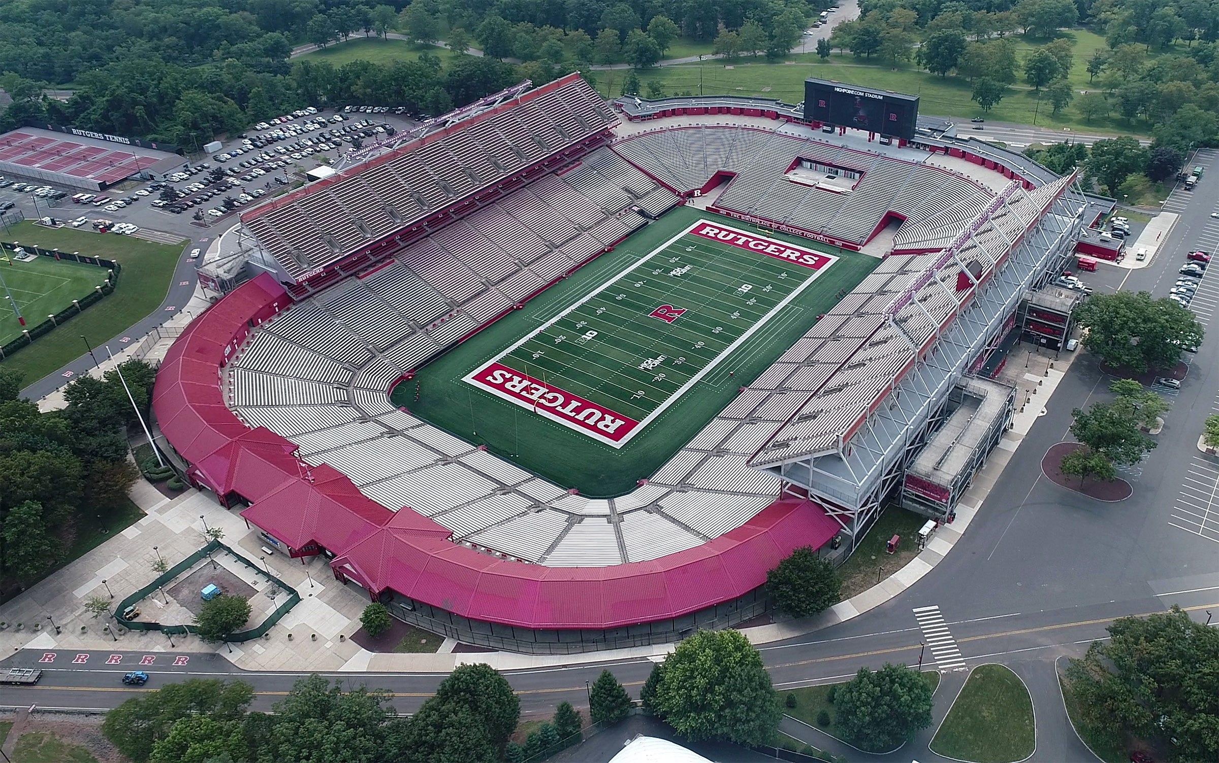 The Rutgers football stadium in Piscataway