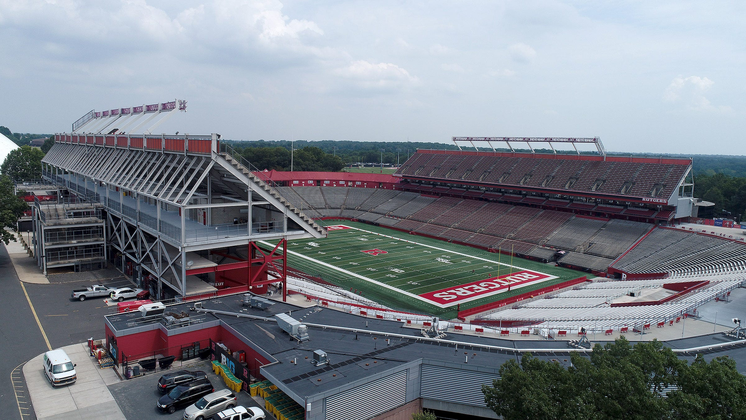 The Rutgers football stadium in Piscataway. In 2019 Rutgers announced that it reached a deal with SHI International Corp., a global IT provider, for naming rights to the facility.