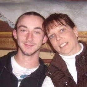 Adam Patton and his mother Sandy Kottre.