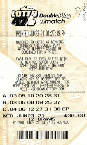 A Roscommon County man won an $18.41 million Lotto 47 jackpot in July.