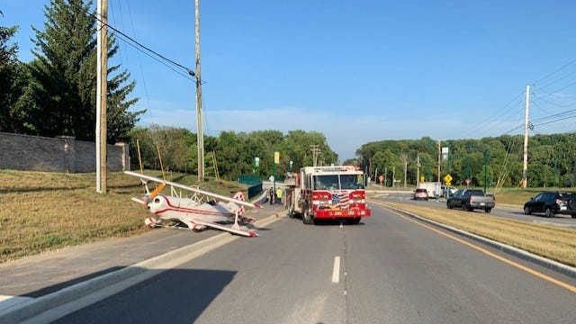 The Fishers Fire Department said a plane made an emergency landing in Fishers on Aug. 25. No one was hurt.