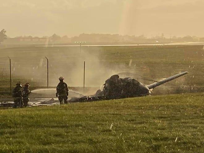 A plane crashed near Capital Regional International Airport Aug. 24, 2021.
