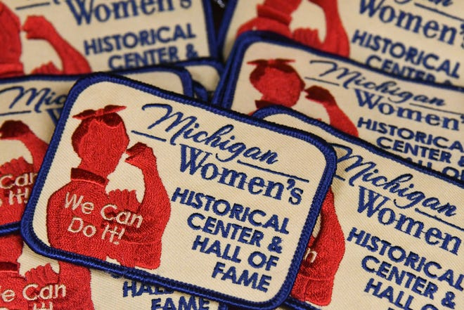 Patches seen at HERstory Gallery, formerly the Michigan Women's Historical Center and Hall of Fame in Lansing.