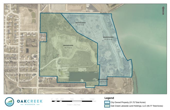 Oak Creek entered into a purchase and sale agreement with Oak Creek Lakeside Land Holdings (Wispark) on Aug. 17 for 46.7 acres at 8850 S. 5th Ave., the former Peter Cooper property.
