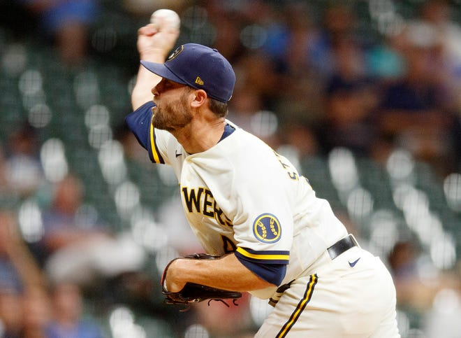 Hunter Strickland is relying less than in the past on his four-seamer fastball but has been one of the Brewers' main contributors in the bullpen.
